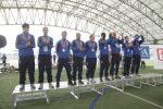 Il podio con gli Azzurri in Crazy For Football