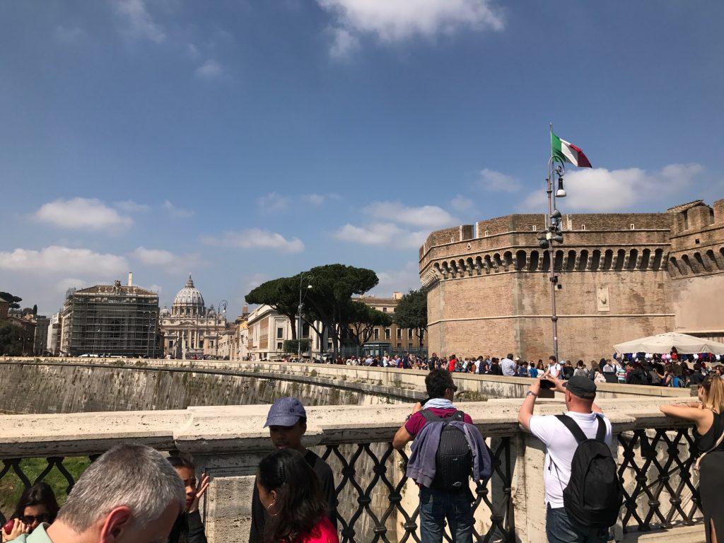 turisti per la Pasqua a Roma