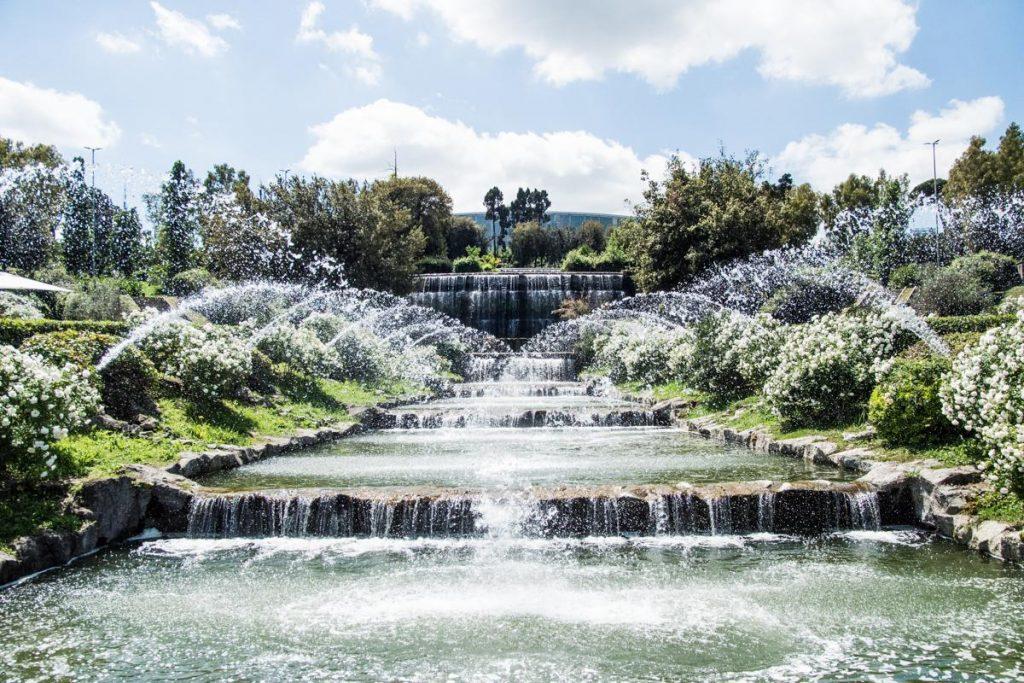 Eur diacetti dopo 56 anni riapre giardino delle cascate for Cascate in giardino