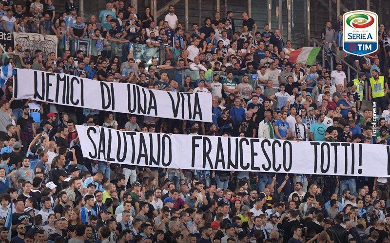 La Curva Nord omaggia Francesco Totti: striscione e lettera a sorpresa