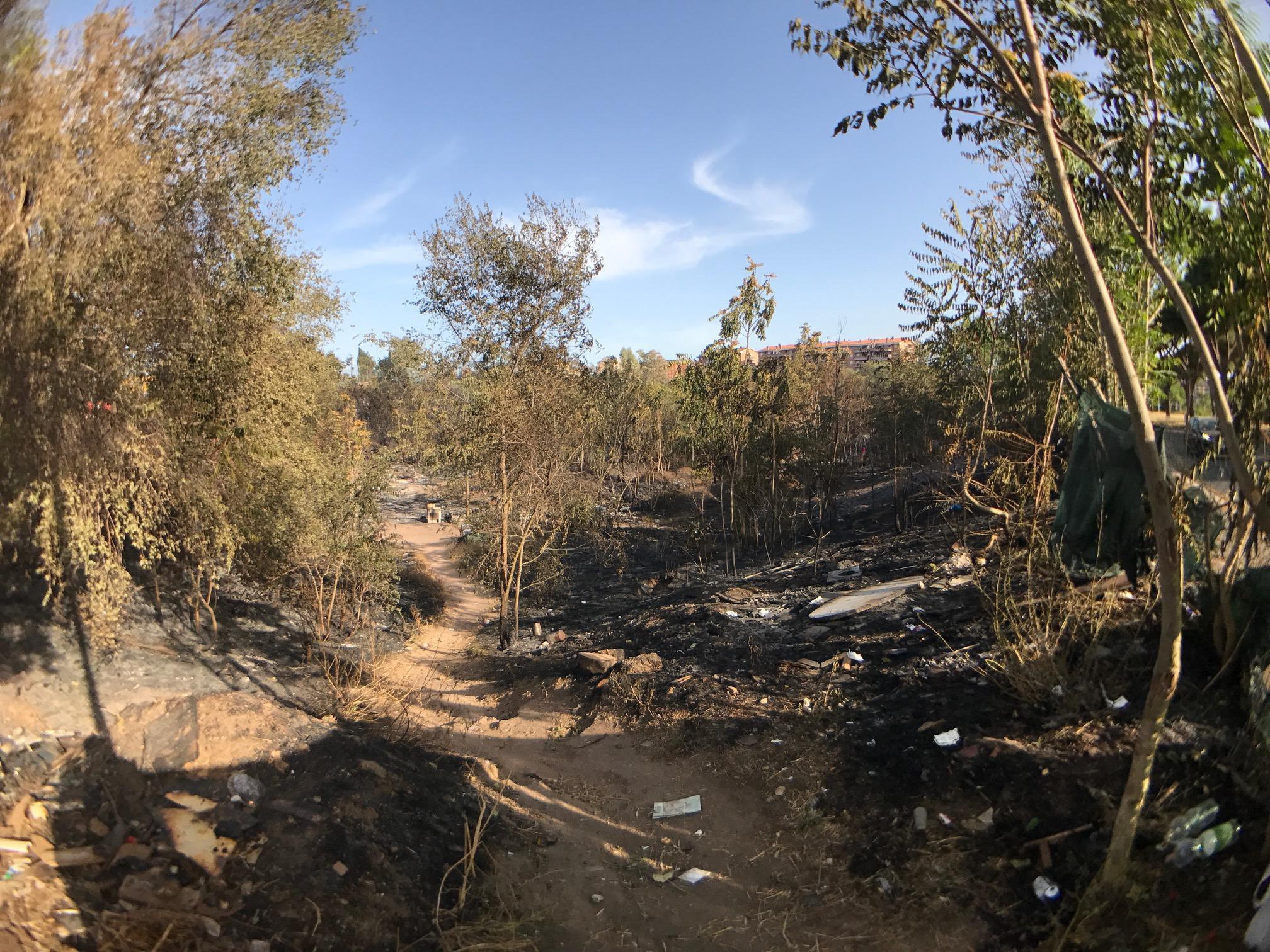 I comitati del V municipio chiedono al Campidoglio di agire Viale Togliatti a fuoco, vicino a Centocelle