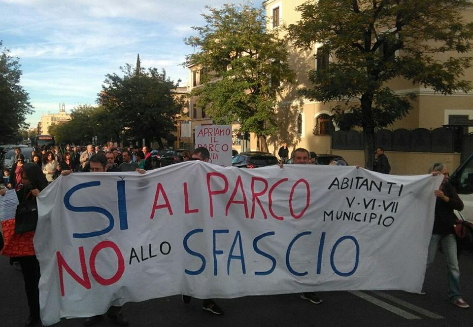 Manifestazione per il parco di Centocelle