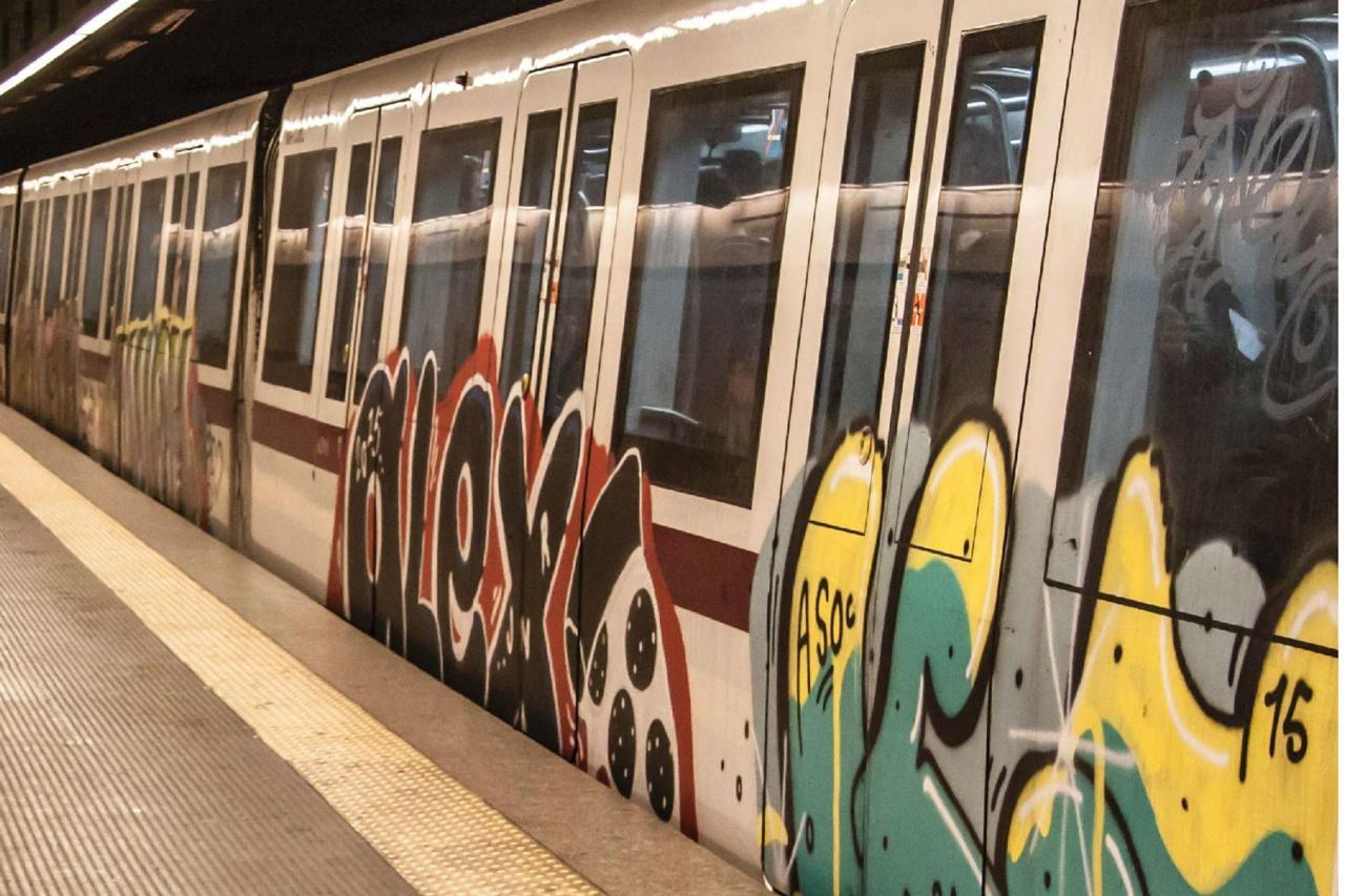 La metro a Roma