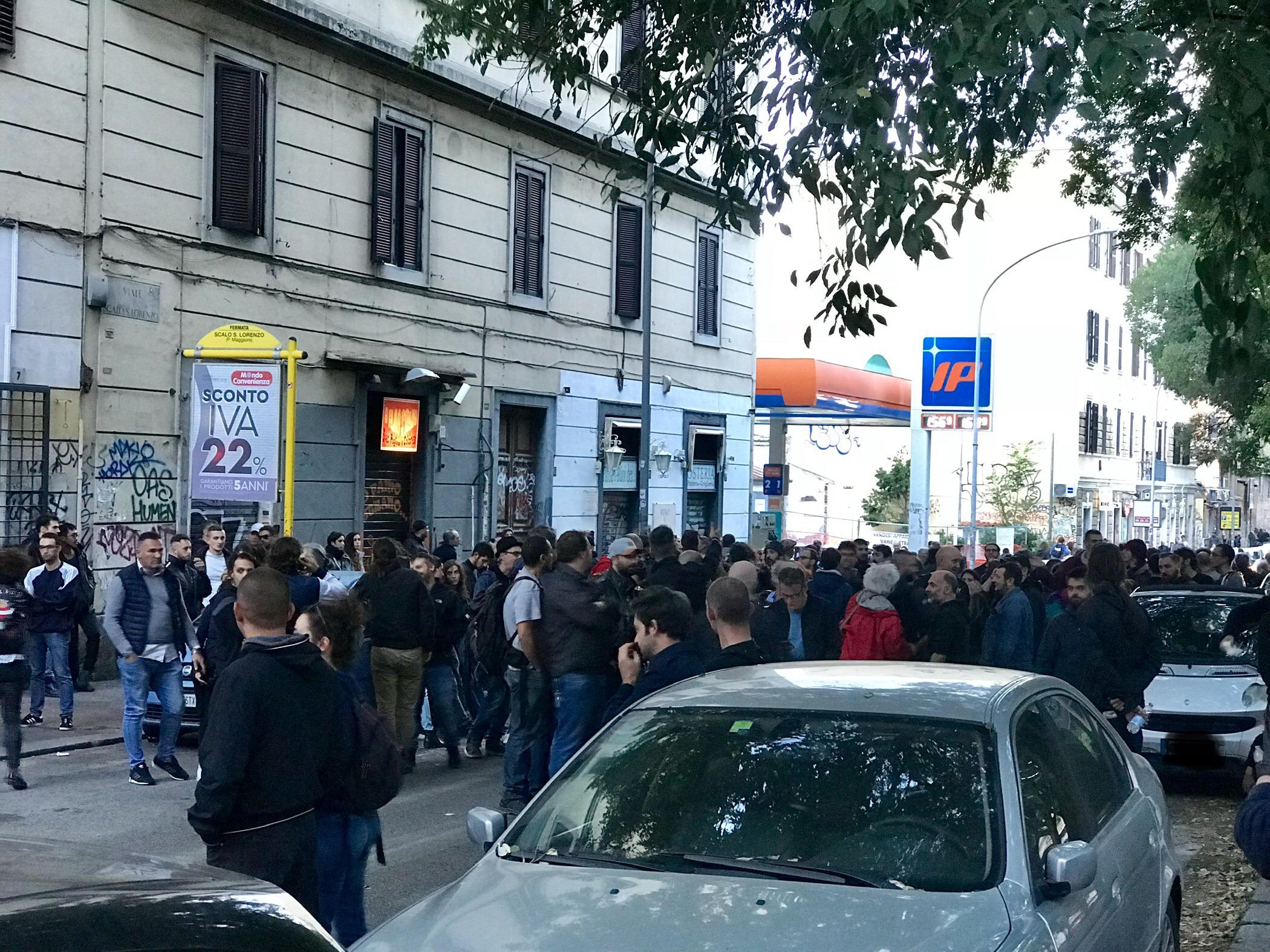 Forza Nuova manifesta a San Lorenzo