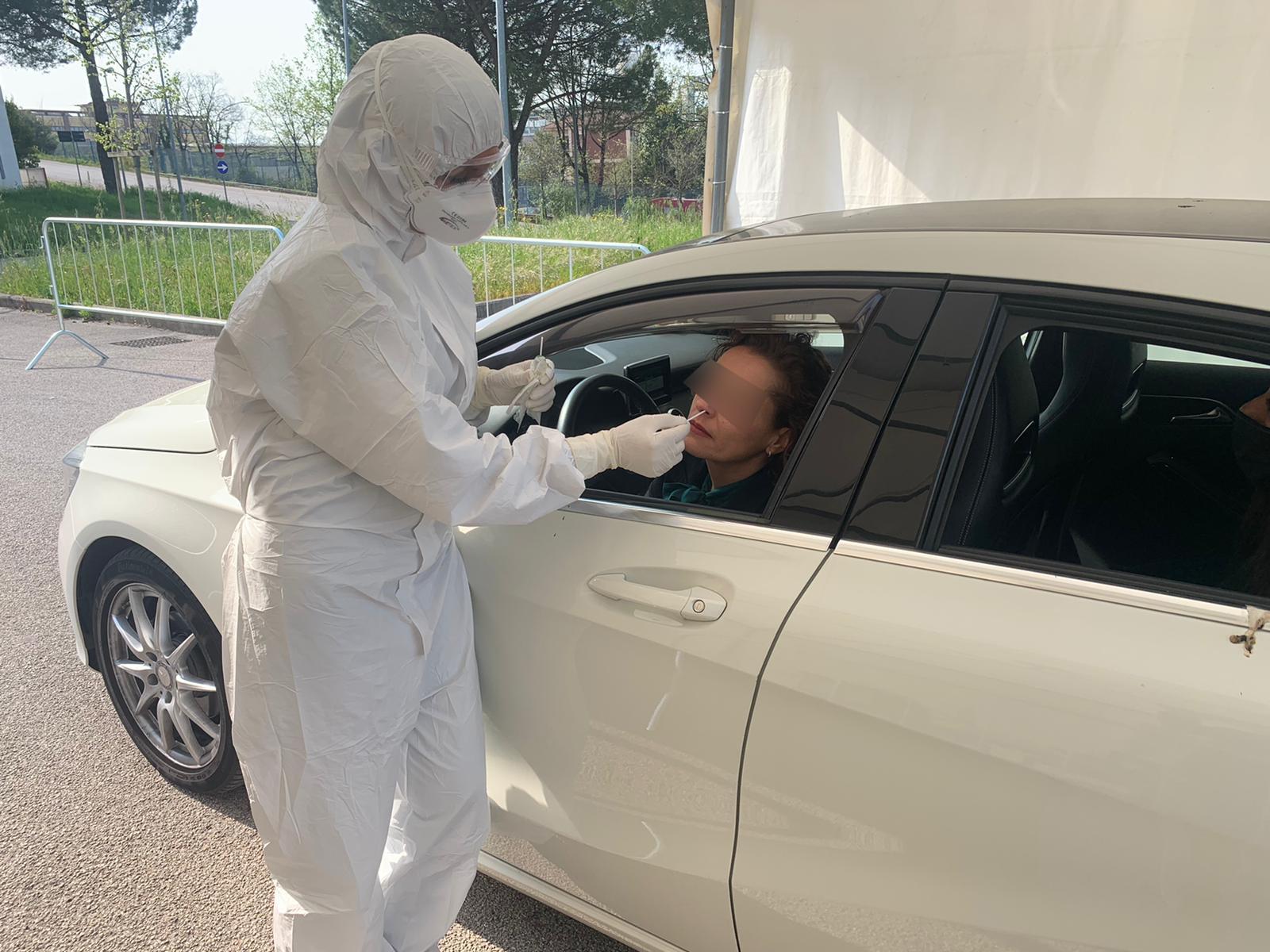 drive-in tampone auto test covid