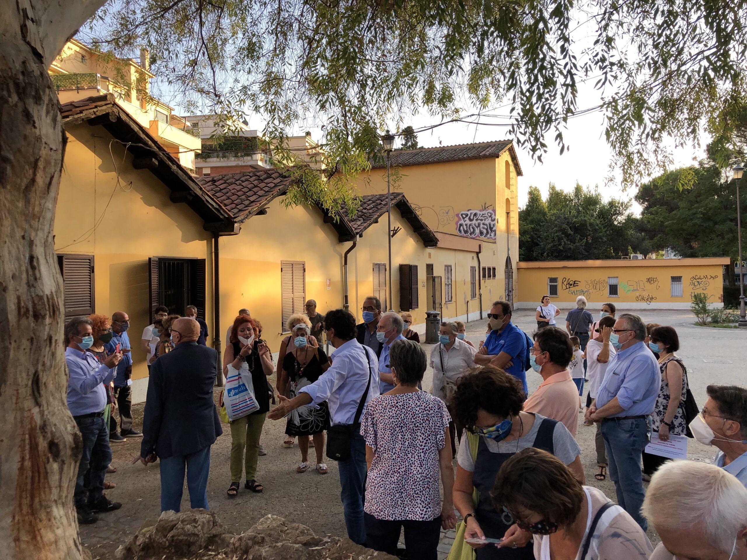 La protesta a villa Lazzaroni