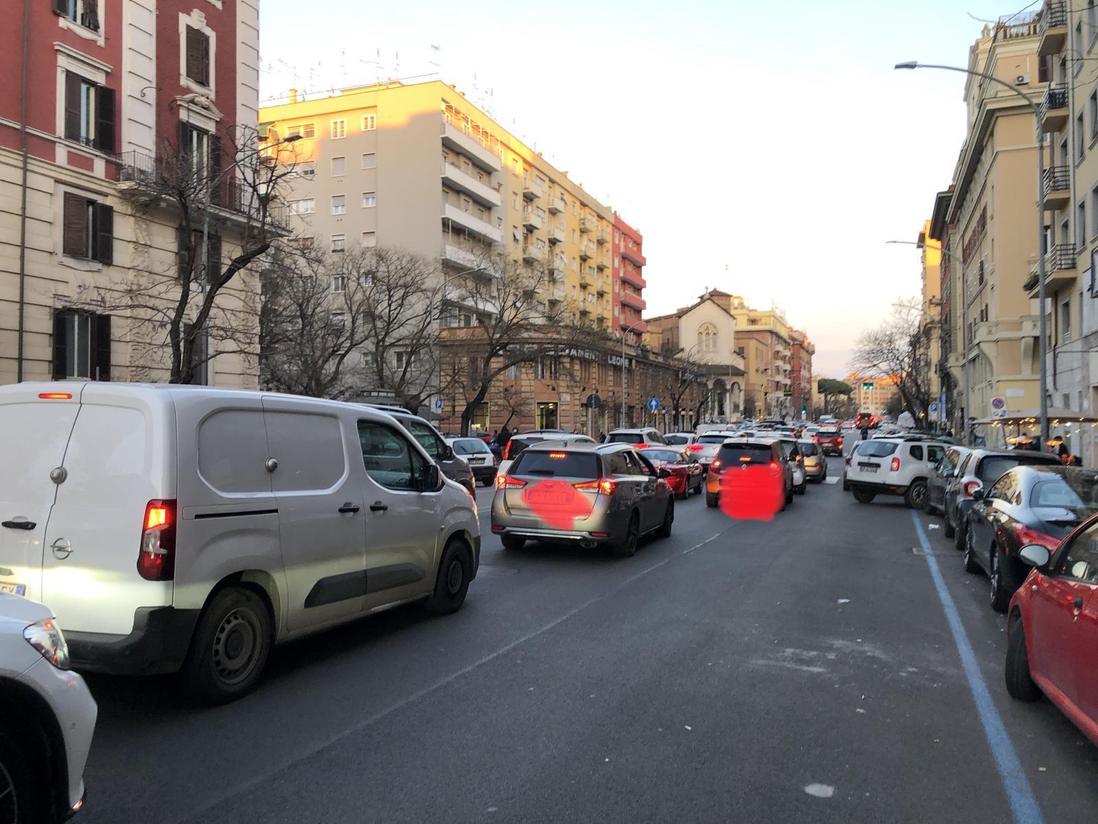 Il traffico a San Giovanni